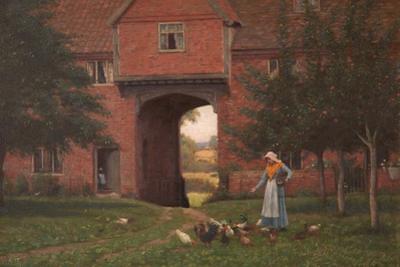 Hales Old Hall, Hales Green, Near Norwich, Norfolk, 1913 by Edmund Blair Leighton