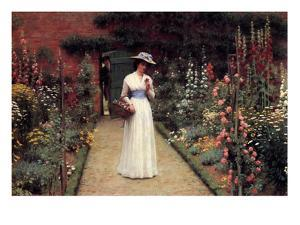Lady in the Garden by Edmund Blair Leighton