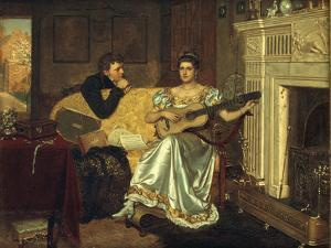Say, What shall be the Burden of my Song?, 1881 by Edmund Blair Leighton