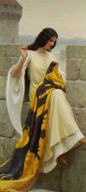 Stitching the Standard, 1911 by Edmund Blair Leighton
