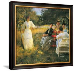 In the Orchard, 1891 by Edmund Charles Tarbell
