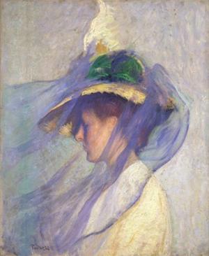 The Blue Veil by Edmund Charles Tarbell