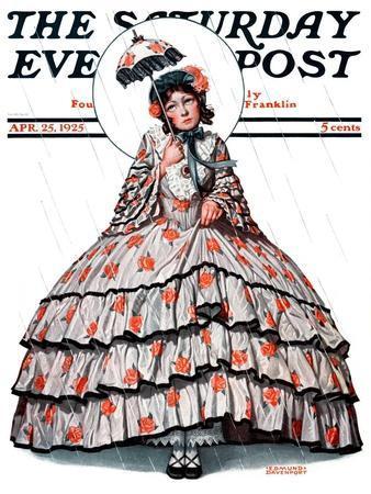 """Hoop Skirt,"" Saturday Evening Post Cover, April 25, 1925"