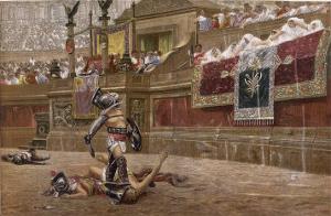 Gladiators in the Arena by Edmund Evans