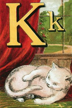 K For the Kitten That Plays With Its Tail by Edmund Evans