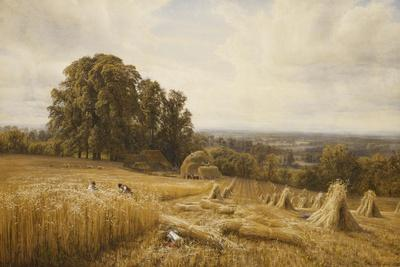 An Extensive Landscape with Harvesters, 1873