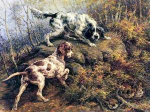 Pointer, Setter and Grouse by Edmund Henry Osthaus