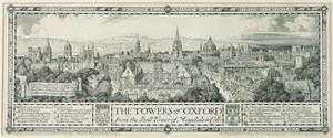 The Towers of Oxford from the Bell Tower of Magdalen, 1908 by Edmund Hort New