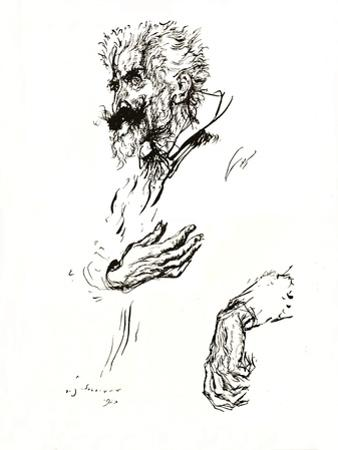 'Don Quixote. Pen Sketch from 'Line: An Art Study', 1923 by Edmund Joseph Sullivan