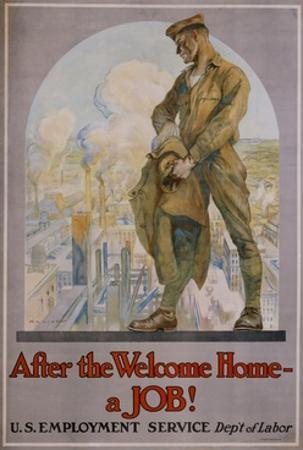 After the Welcome Home - a Job! Poster