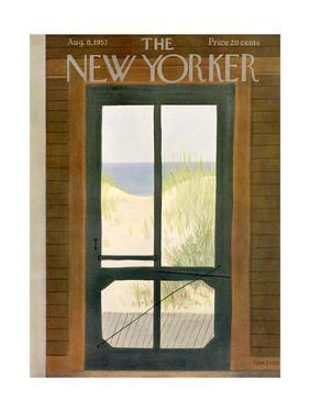 The New Yorker Cover - August 8, 1953 by Edna Eicke
