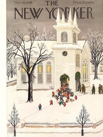 The New Yorker Cover - December 18, 1948 by Edna Eicke