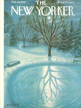 The New Yorker Cover - February 28, 1959 by Edna Eicke