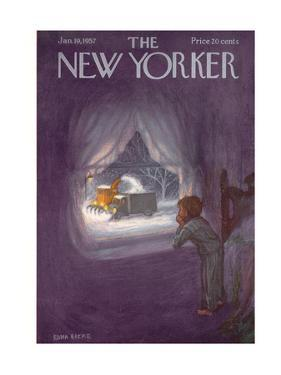 The New Yorker Cover - January 19, 1957 by Edna Eicke
