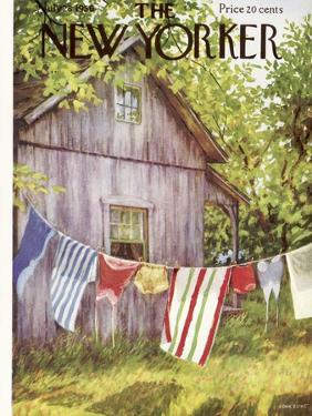 The New Yorker Cover - July 28, 1956 by Edna Eicke