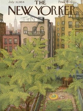 The New Yorker Cover - July 31, 1954 by Edna Eicke