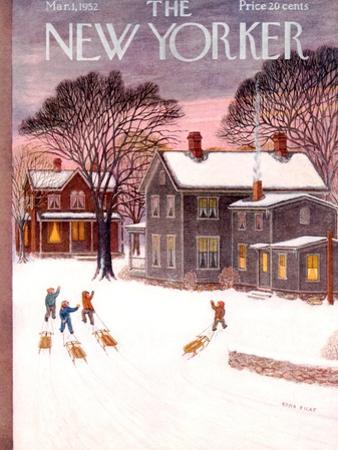 The New Yorker Cover - March 1, 1952 by Edna Eicke