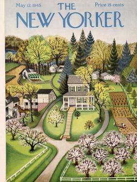 The New Yorker Cover - May 12, 1945 by Edna Eicke