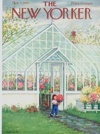The New Yorker Cover - May 7, 1955 by Edna Eicke