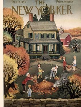 The New Yorker Cover - October 12, 1946 by Edna Eicke