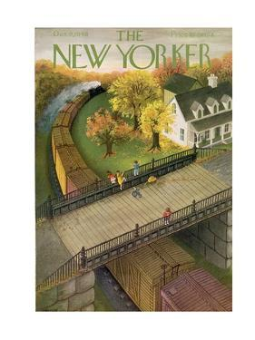 The New Yorker Cover - October 9, 1948 by Edna Eicke