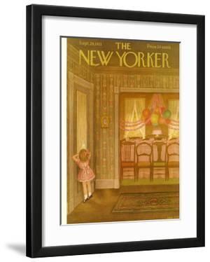 The New Yorker Cover - September 29, 1951 by Edna Eicke
