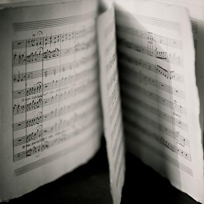 Detail of Page Music by Edoardo Pasero