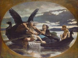Love Dies in Time, 1872 by Edouard Debat-Ponsan