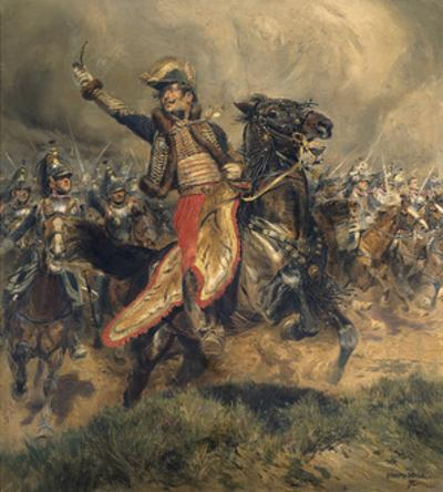 Last Charge of the General Lassalle, Battle of Wagram, July 6, 1809 by Edouard Detaille