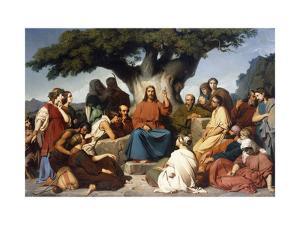 Surmon de Jesus-Christ sur la Montagne' (Matthew, V) by Edouard Dubufe