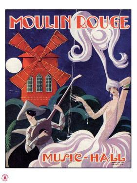 1924 Moulin Rouge Programme by Edouard Halouze