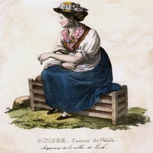 Swiss Woman, C1825 by Edouard Henry Theophile Pingret