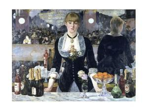 A Bar at the Folies-Bergere by Edouard Manet