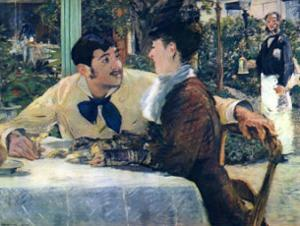 At Father Lathuille by Edouard Manet