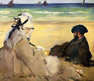 At the Beach by Edouard Manet