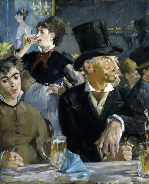 At the Cafe, c. 1879 by Edouard Manet