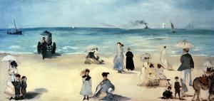 Beach Scene by Edouard Manet