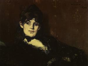 Berthe Morisot Reclining by Edouard Manet