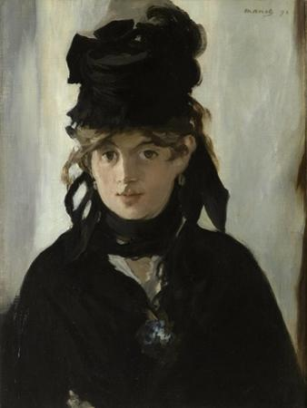 Berthe Morisot with a Bouquet of Violets, C. 1880 by Edouard Manet