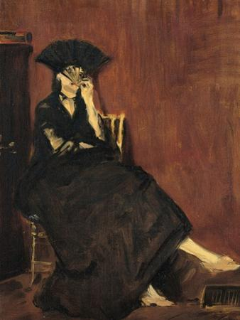 Berthe Morisot with a Fan by Edouard Manet