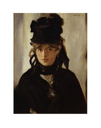 Berthe Morisot with Bouquet of Violets, c.1872 by Edouard Manet