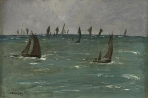 Boats at Berck sur Mer, 1873 by Edouard Manet by Edouard Manet