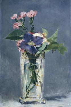 Clematis in a Crystal Vase by Edouard Manet