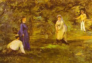Edouard Manet Croquet Party Art Print Poster