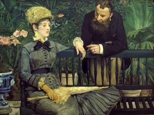 Dans la Serre (In the Winter Garden), 1879 by Edouard Manet