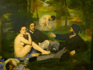 Edouard Manet's Le Dejeuner sur l'herbe in Musee d'Orsay, Paris, France by Edouard Manet