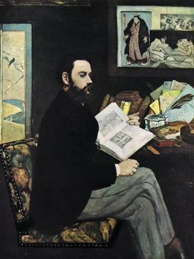 Emile Zola (1840-190), French Novellist, 1868 by Edouard Manet
