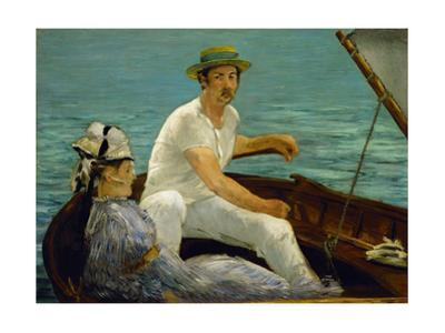 En Bateau - In a boat,1874 Canvas,92.2 x 130,2cm. by Edouard Manet