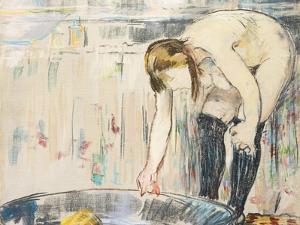 Femme Au Tub by Edouard Manet