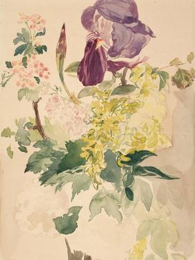 Flower Piece with Iris, Laburnum, and Geranium, 1880 by Edouard Manet